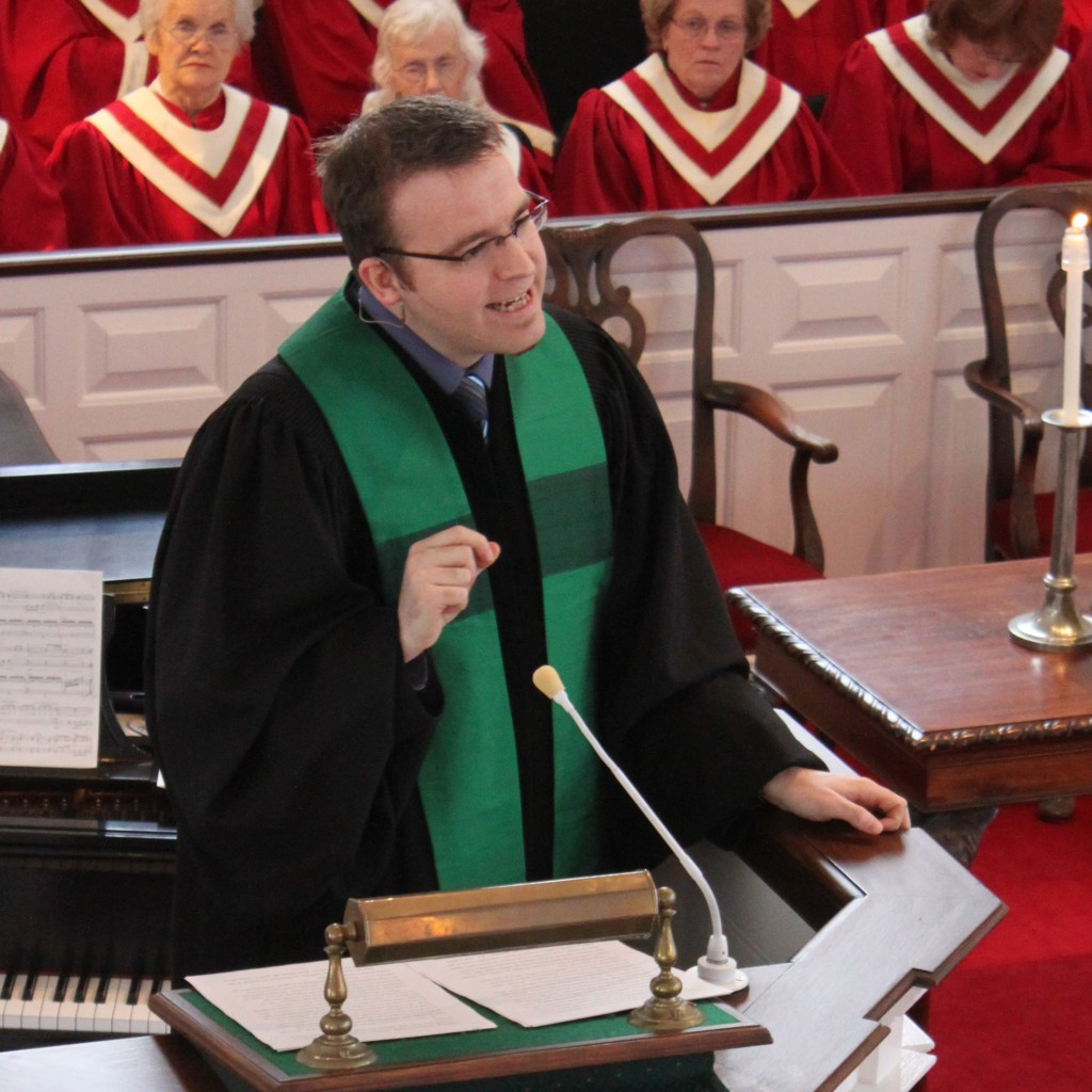 Matt in pulpit