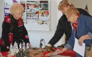 Trudy Lamb at Christmas Bazaar