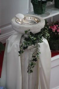 Baptismal Font at Easter