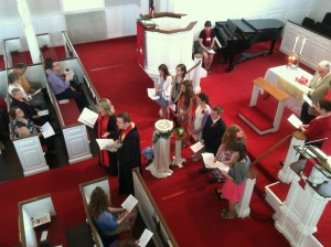 Confirmation Sunday scene