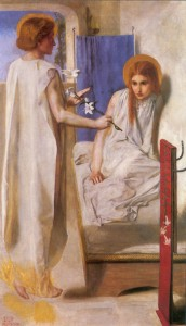 <i>Ecce Ancilla Domini! (Behold the Lord's Servant)</i>, Dante Gabriel Rossetti, 1849-50