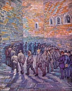 """Prisoners Exercising"" (after Gustave Dore's ""Prisoners' Round""), painting by Vincent Van Gogh, 1890"