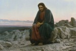 """""""Christ in the Desert"""" (painting), Ivan Nikolaevich Kramsko?, 1872"""