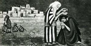 """""""Samuel anoints David"""", Éric de Saussure, Textes de la bible de Jérusalem, 1968"""