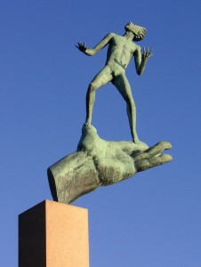 """""""God's Hand"""", sculpture by Carl Milles, 1949-53"""