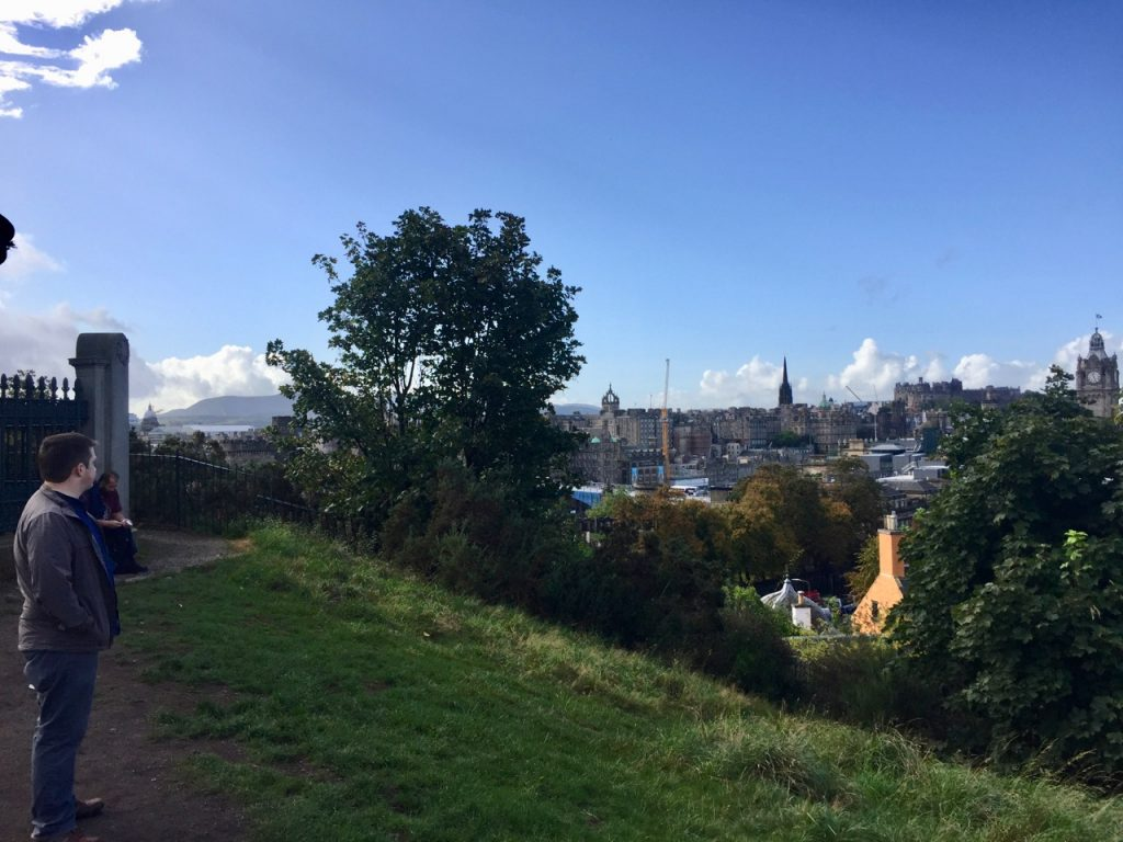 Sights *from* Calton Hill